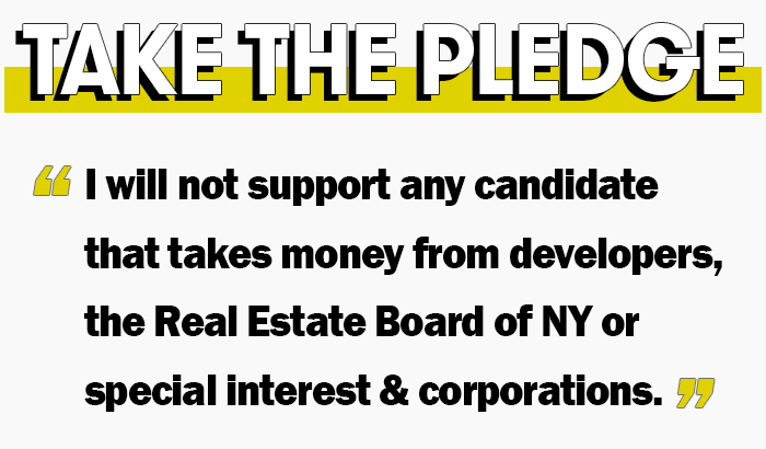 Take the pledge graphic