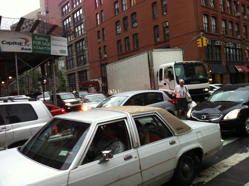 Traffic jam in SoHo