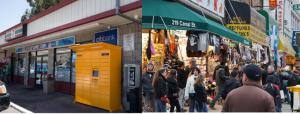 Amazon lockers, chain stores